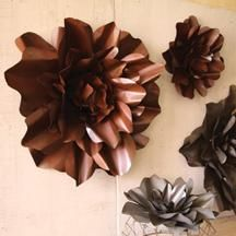 Metal Flowers Wall Decor small and large rustic metal wall flowerkalalou | wall decor