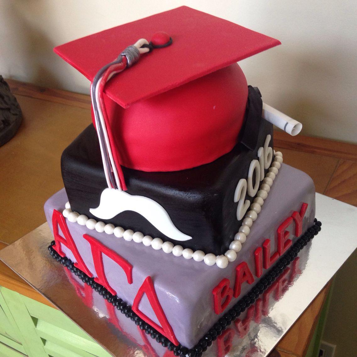 UNLV graduation cake for a Las Vegas graduate cap tassel mustache ...
