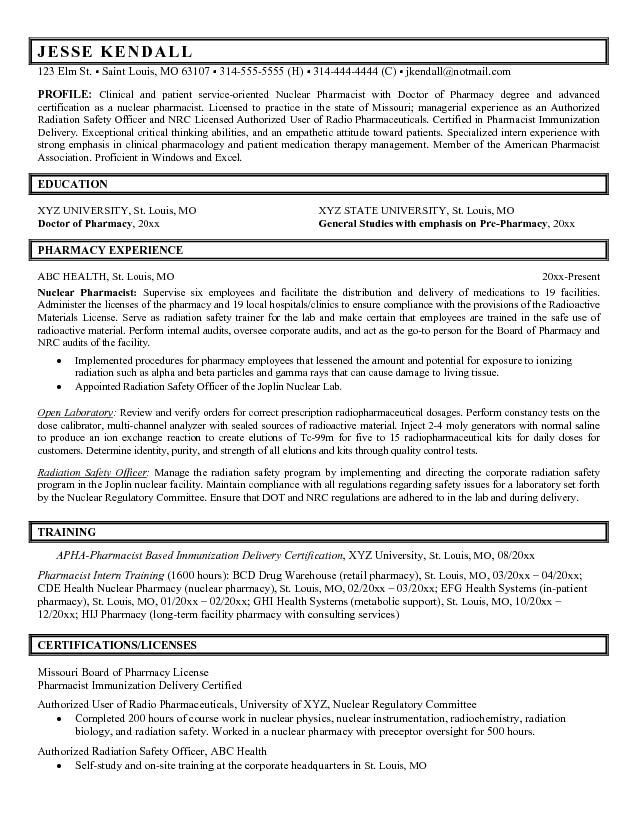Hospital Pharmacy Technician Resume Job Resume Samples Pharmacy