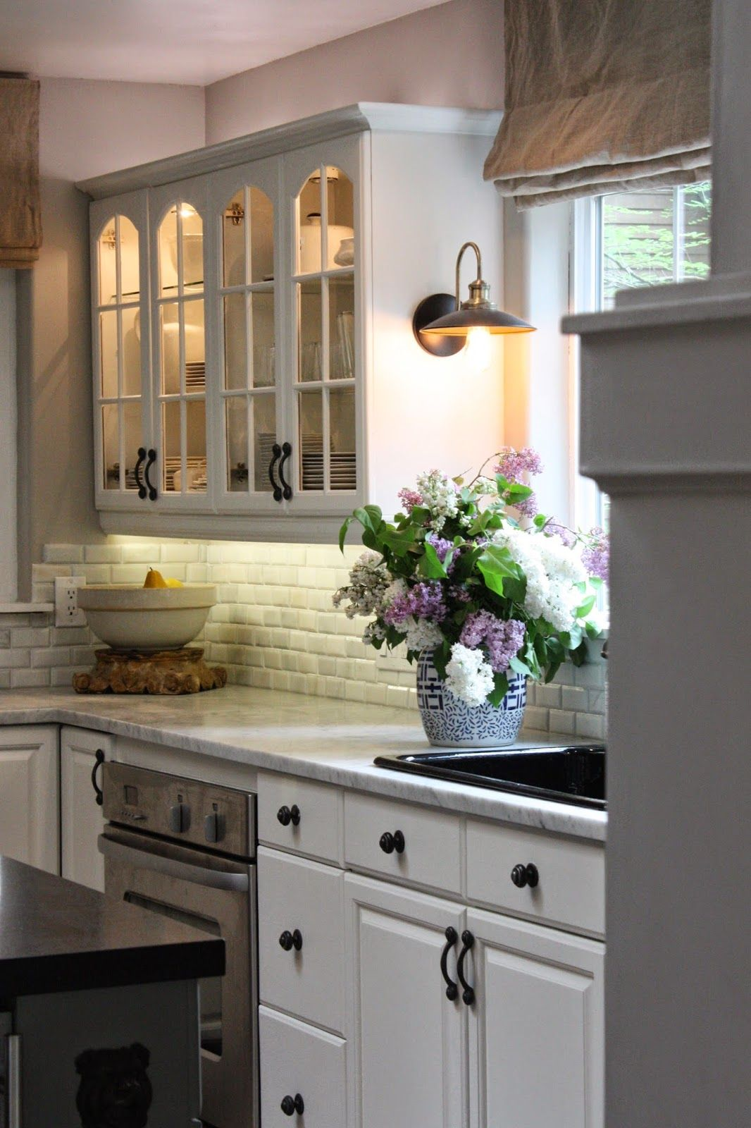 over the counter lighting. Kitchen; Love The Sconce Over Counter, White Cabinets And Natural Light Counter Lighting