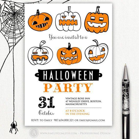 printable halloween invitation templates halloween party