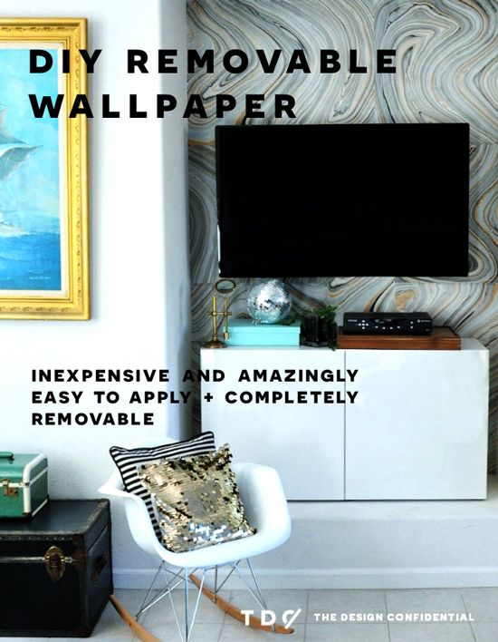 DIY Home Decor How To Make Your Own Removable Wallpaper