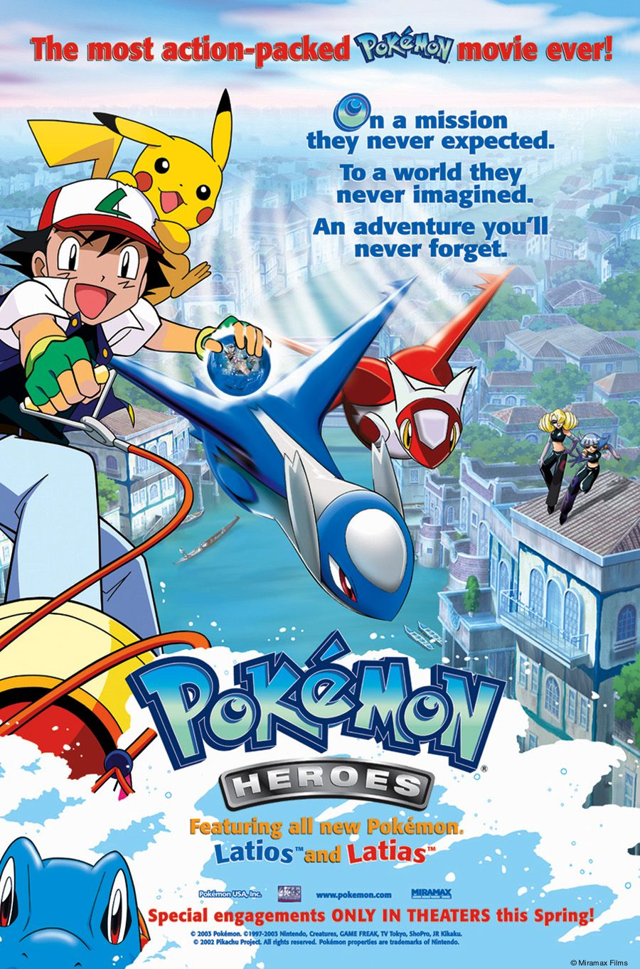 Pokemon Heroes Poster Google Search Pokemon Heroes Pokemon Movies Pokemon