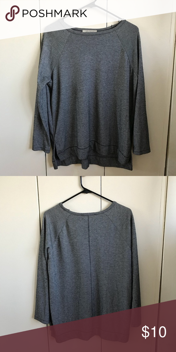 d36e9537 Zara sweater Zara Trafaluc striped sweater. Thick sweater and super warm.  Gently worn. Fits a size S/M. Zara Sweaters Crew & Scoop Necks