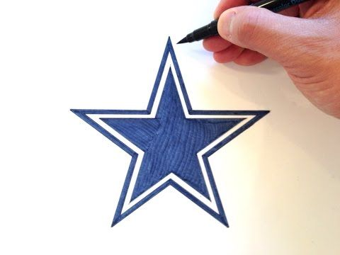 How to Draw the Dallas Cowboys Star Logo - YouTube  115a77a2c