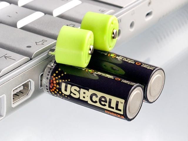 Usbcell Aa Rechargable Battery Getdatgadget Usb Gadgets Usb Cool Technology