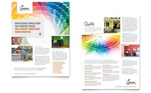 House Painting Contractor Datasheet  Word  Publisher Template