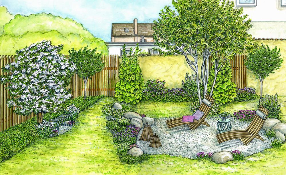1 Garten 2 Ideen Gestaltungsideen Fur Einen Tristen Gartenbereich Garten Gestalten Gartengestaltung Garten