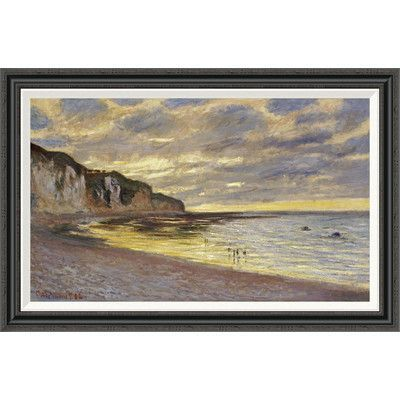 Global Gallery 'Pointe de Lailly, marÍce basse' by Claude Monet Framed Painting Print Size: