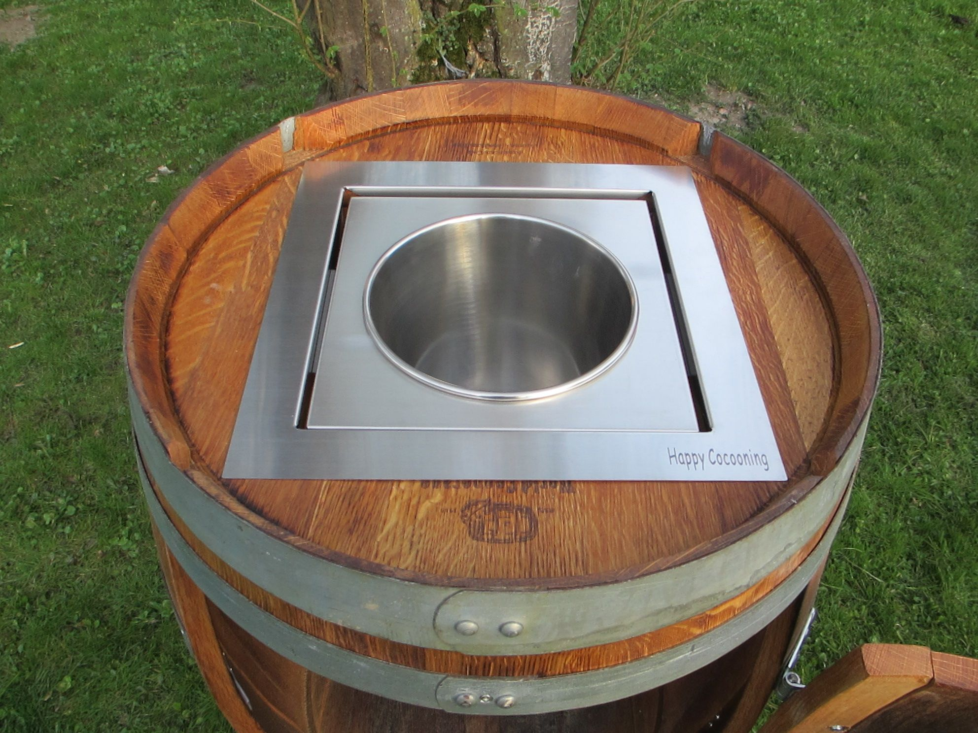 DIY Wine Barrel Cooler, Barrique , Weinfass umbauen | Wine Barrel ...
