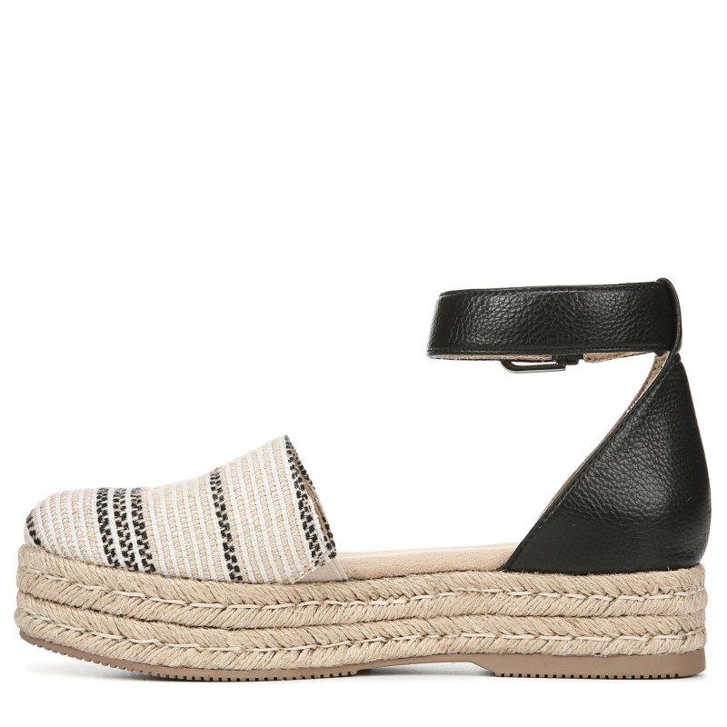 b88330ab304 Naturalizer Women s Waverly Medium Wide Espadrille Shoes (Black Multi  Stripe)