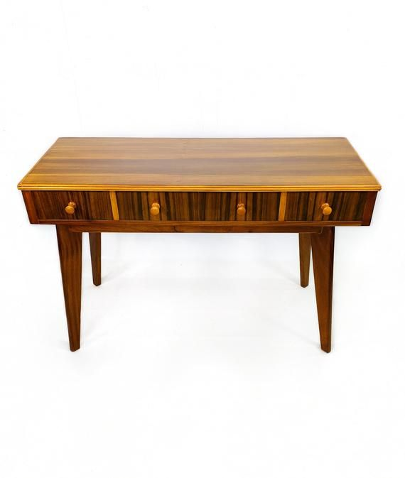 Morris Of Glasgow Walnut Dressing Table Mid Century Retro