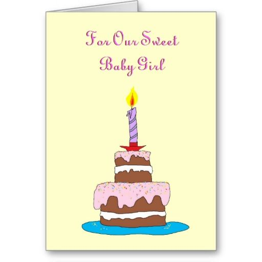 Baby girl cake first birthday card baby girl cakes girl cakes baby girl cake first birthday card m4hsunfo