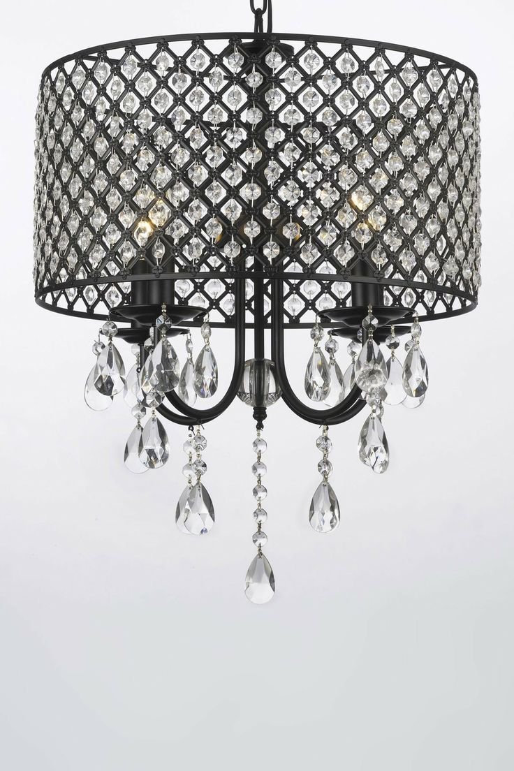 For my girls room perhaps in pink or silver new home gallery chandeliers with shades wrought iron 4 light round crystal chandelier chandeliers lighting arubaitofo Choice Image