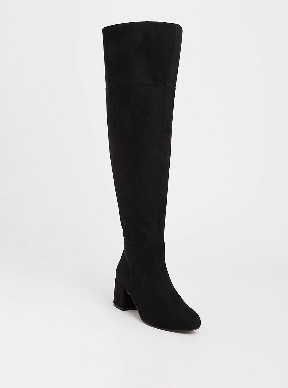 Extra wide calf, Suede boots knee high