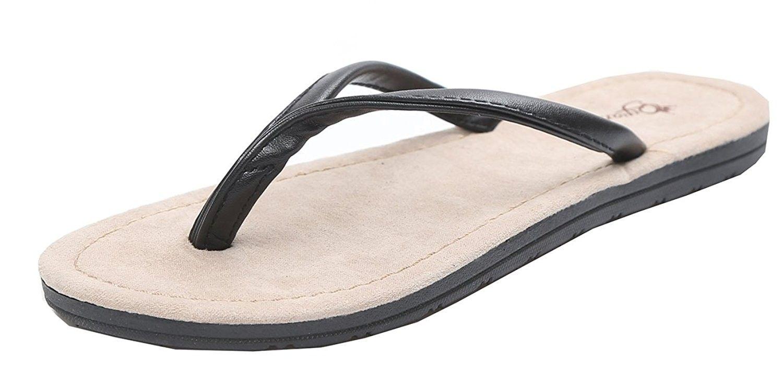 908104681 Couple Womens Leather Flip Flop Sandals Antiskid Odorless Womens ...