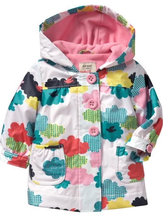 Just got this coat for Joselyn with a yellow ruffled umbrella with white polka dots. Now I can't wait for spring showers!
