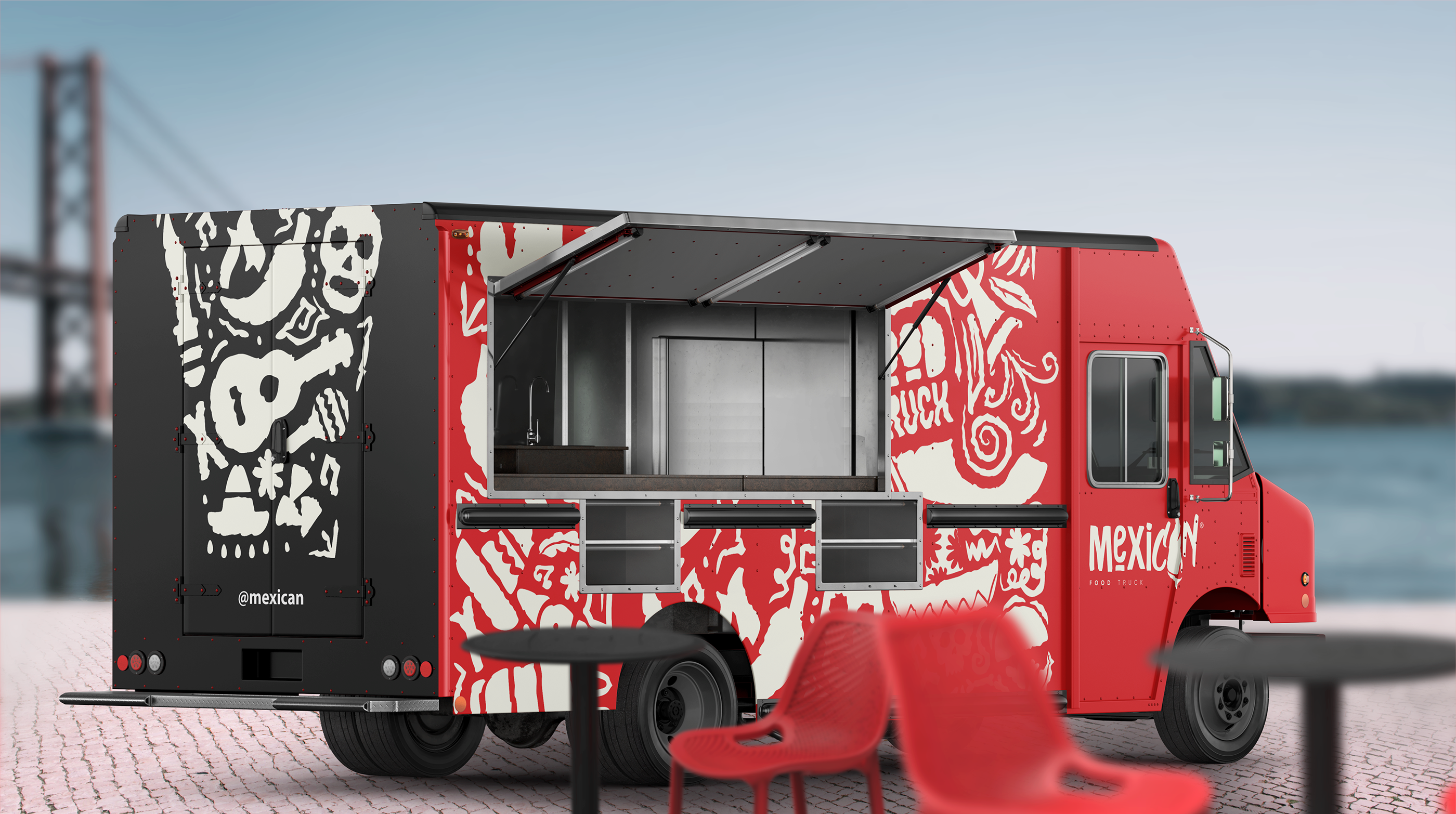 Mexican Food Truck On Behance Mexican Food Recipes Food Truck Food Truck Design