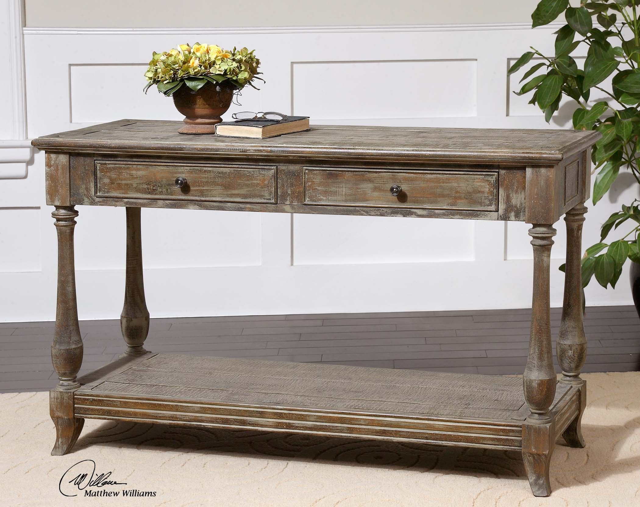 Mardonio Distressed Console Table