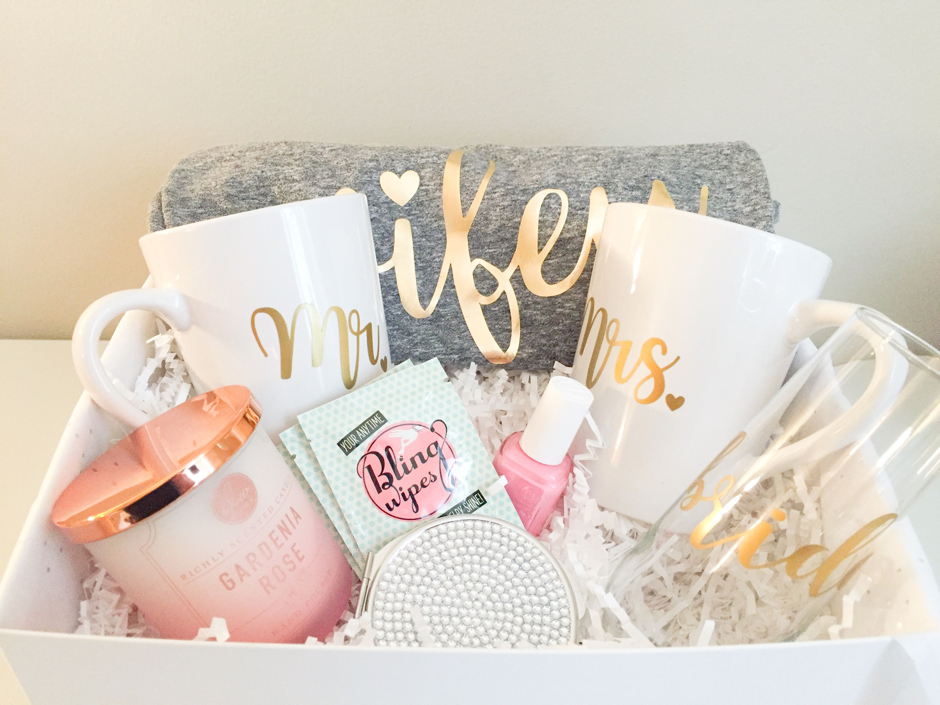 Wedding Gift Presents: Bridal Gift Basket, Bride To Be Gifts, Custom Gift Basket