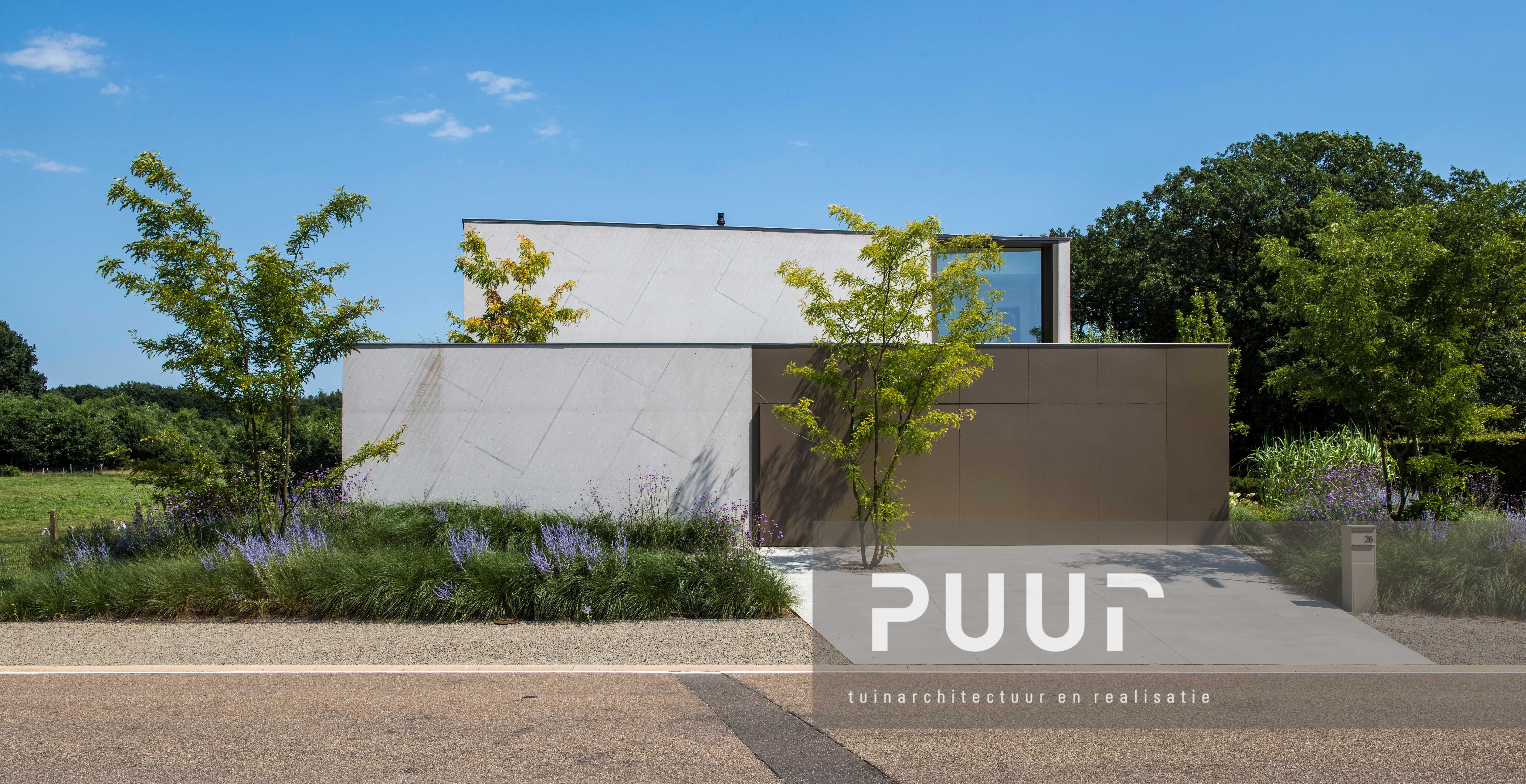 Moderne woning met strakke voortuin puur groenprojecten