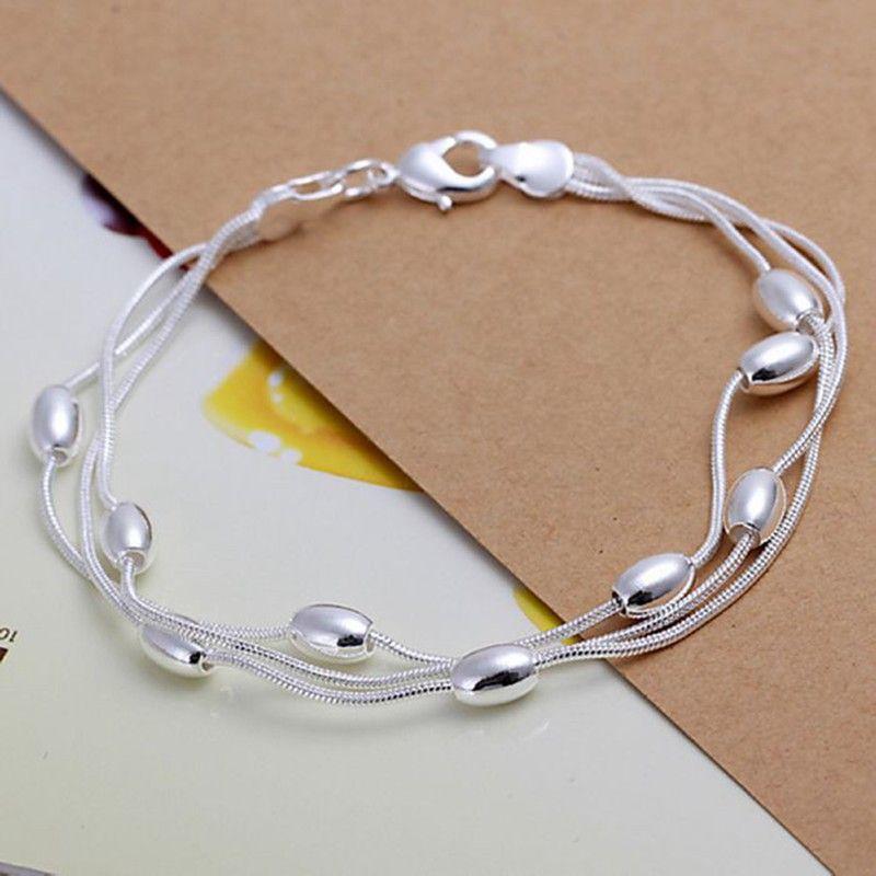 1df1ef9c2cea Envío gratis venta al por mayor pulsera de plata