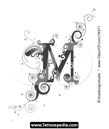 M Tattoo Designs Letters