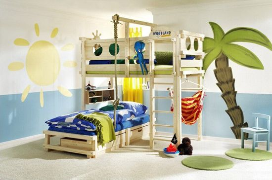 Beds and children's beds transformable Woodland