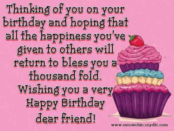 Happy Birthday Wishes Quotes Sayings And Messages For A Friend