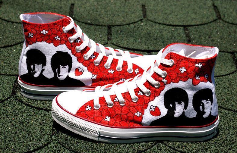 The Walking Dead Airbrush Shoes Chucks Converse Allstar Custom Painted Schuhe Sneaker art