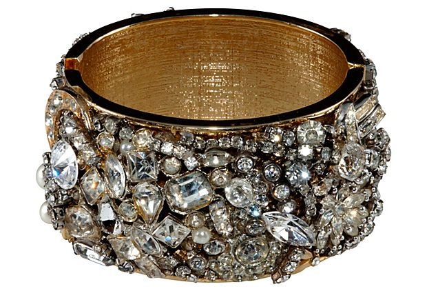 Repurposed Rhinestone Cuff Bracelet on OneKingsLane.com