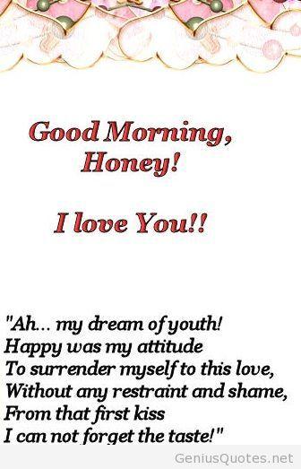 Good Morning Poem For Love
