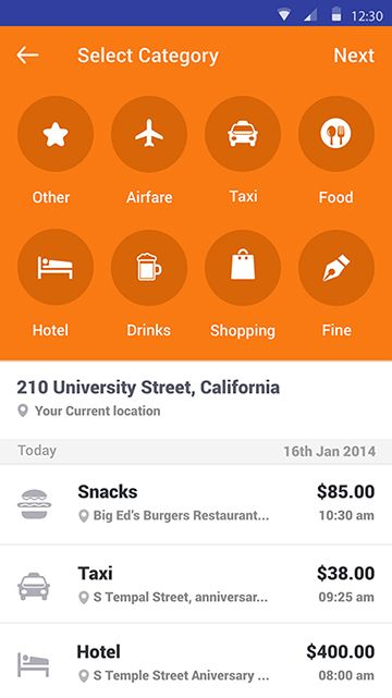 Expense Tracker Android App ( proof of concept ) on