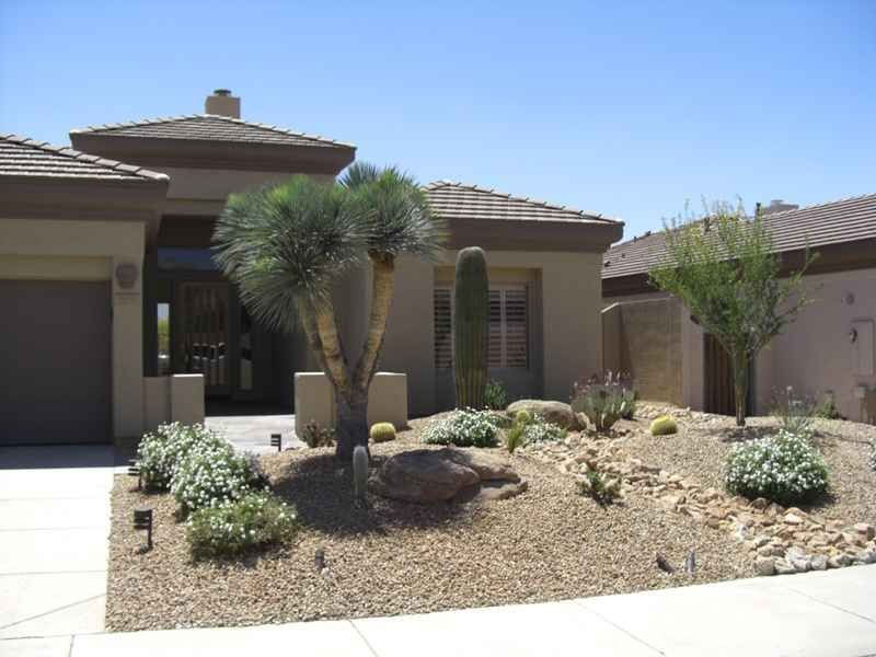Rock Landscaping Ideas For Front Yard Part - 45: Low Maintenance Front Yard Landscaping | Front Yard Desert Landscape Design  With Rock, River Bed, And Desert ... | Maryu0027s Board | Pinterest | Yard ...