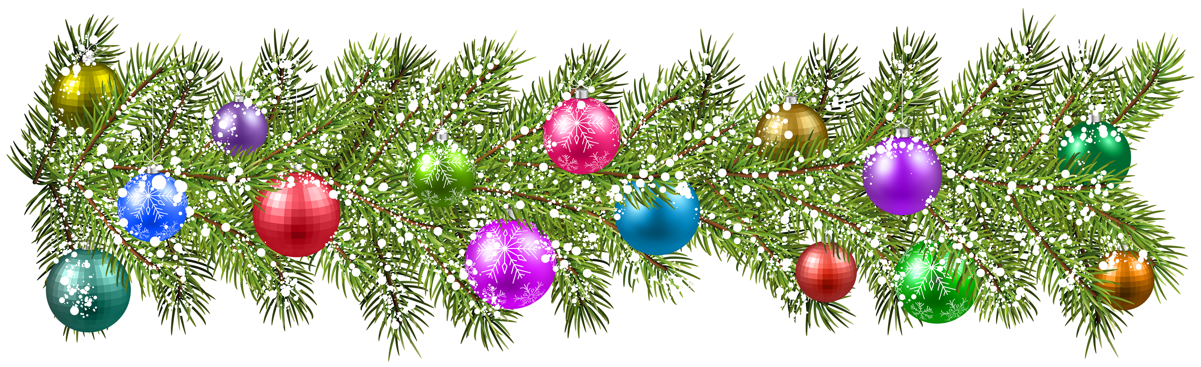 Christmas Pine Branches And Christmas Balls Png Clip Art Image Sunflower Art Christmas Balls Clip Art