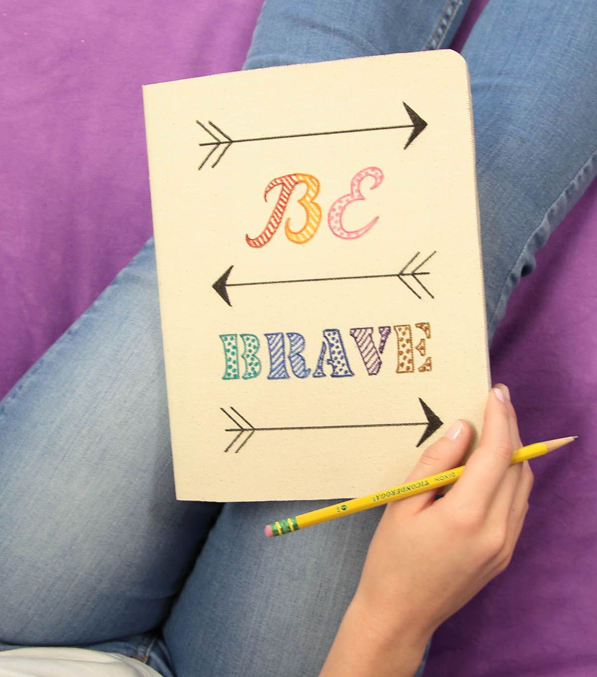 """How To Make A """"BE BRAVE"""" Canvas Journal"""