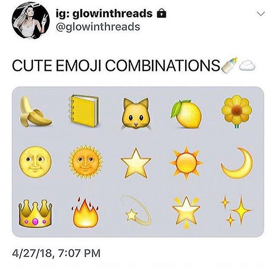 Pin By Mackenzie Parker On Emoji Cute Emoji Combinations Emoji Combinations Instagram Emoji