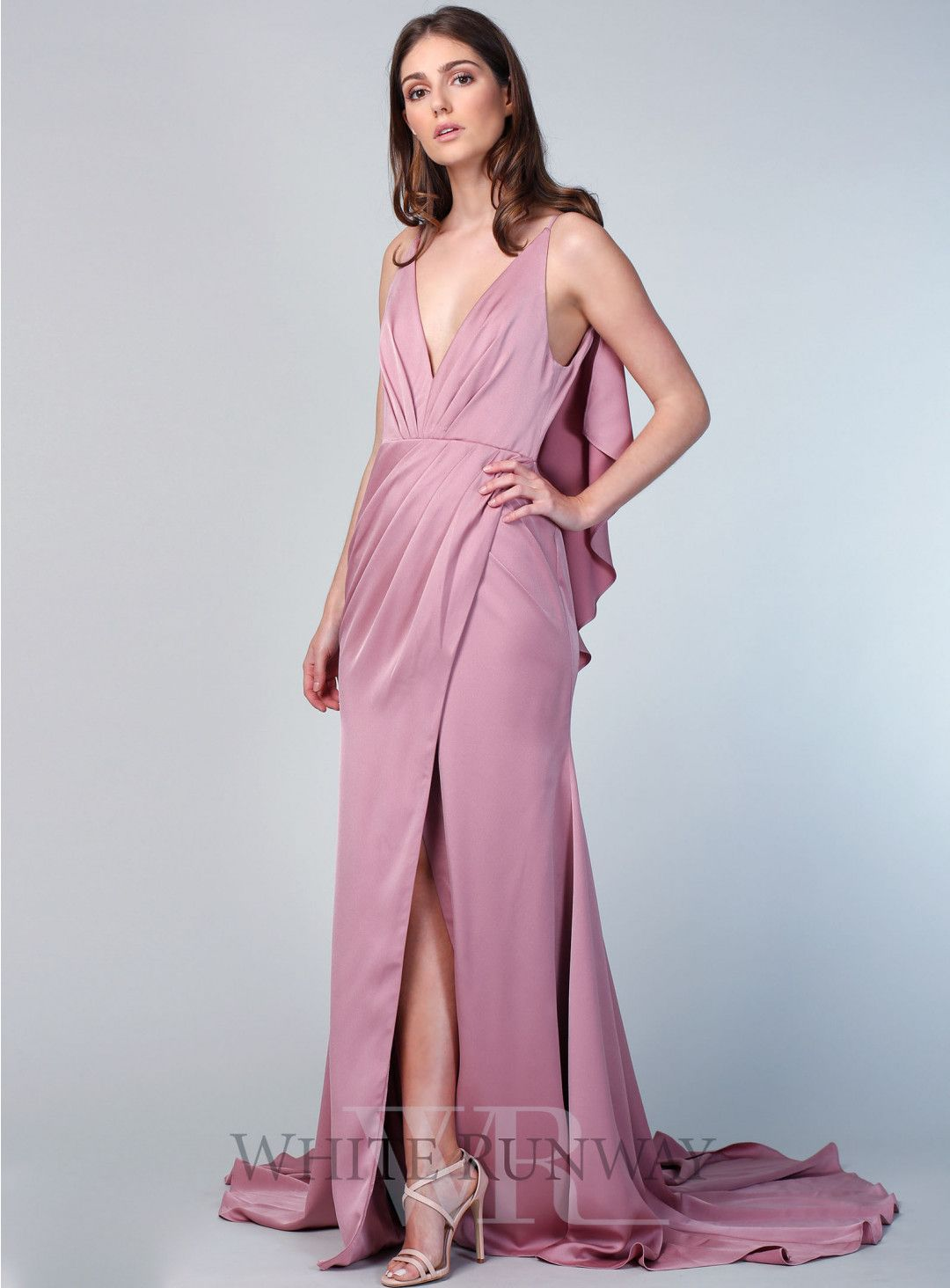 Marcela Gown. A stunning full length dress by Sofia Cali. A v-neck ...