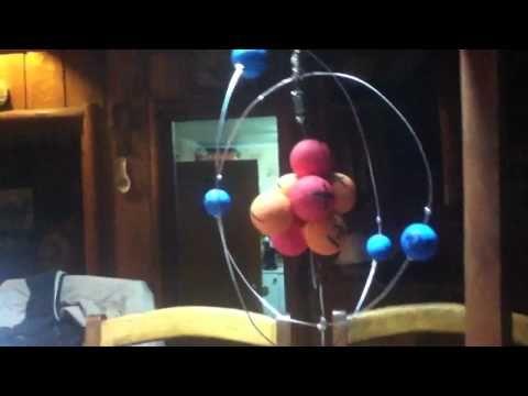 maqueta del atomo de berilio usb