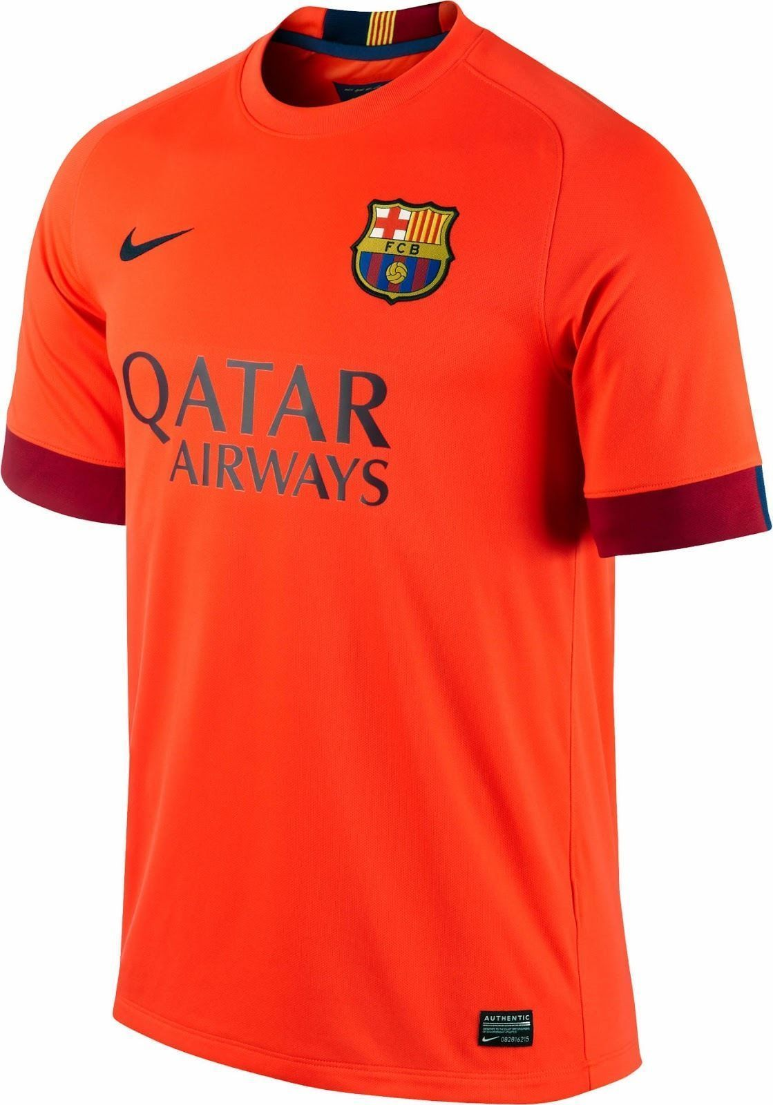 b7e07a0a7 NIKE CARLES PUYOL FC BARCELONA AWAY JERSEY 2014 15 TEAM LOYALTY. TOTAL  COMFORT. The 2014 15 FC Barcelona Stadium Away Men s Football Shirt is made  with ...