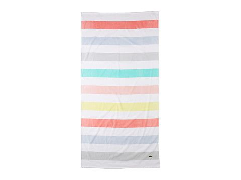 awesome beach towels. Pastel Striped Beach Towel By Lacoste - Awesome Towels U