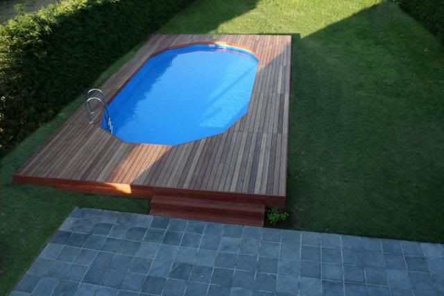 12x24 Above Ground Pool Buried With Pics Trouble Free Pool Backyard Pool Landscaping Pool Landscaping Above Ground Pool