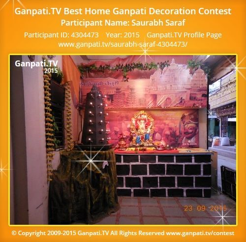 Saurabh Saraf Home Ganpati Picture 2015. View More Pictures And Videos Of Ganpati  Decoration At