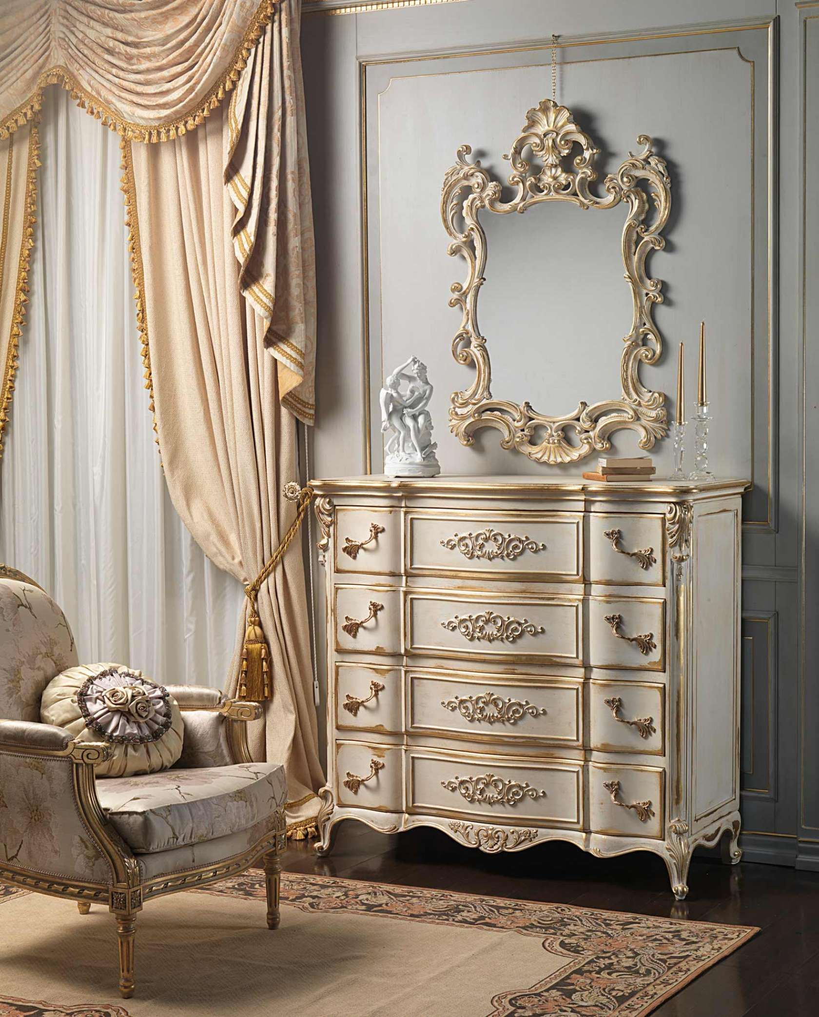 Extraordinary classic luxury furniture louis xvi white and gold