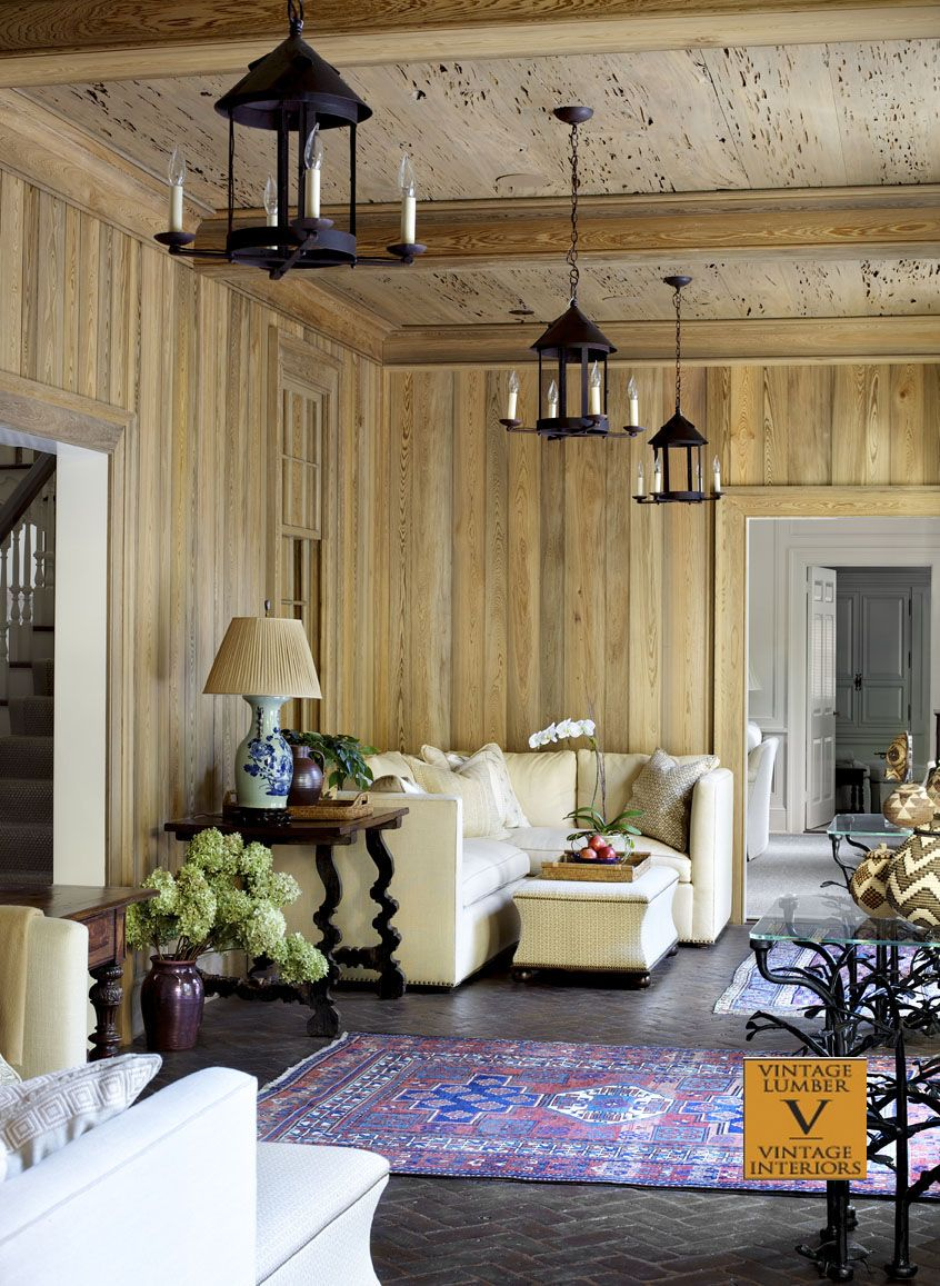Decorating A Wood Paneled Room: River Recovered Cypress Paneled Walls And