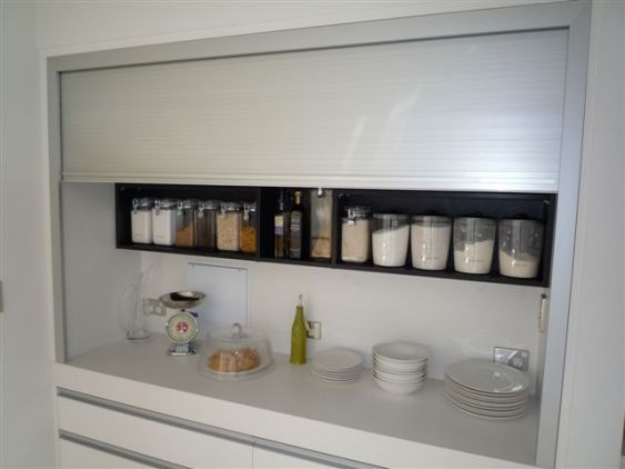 Wanting A Scullery Or Walk In Pantry But Don T Have Enough Room Why Not Try A Roller Door Roller Doors Kitchen Remodel