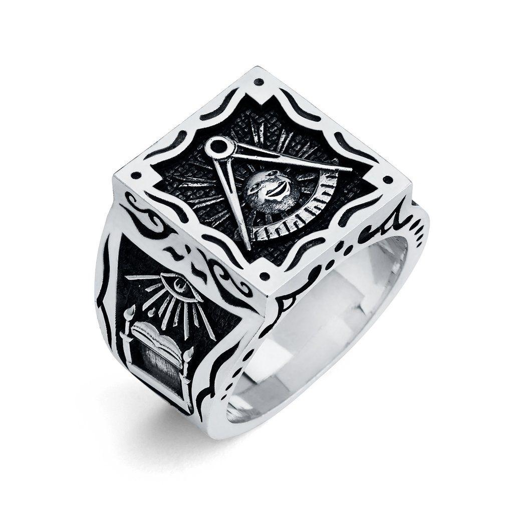 Pin By Eric Hanan On Masonic Ring Freemason Ring Masonic Ring Black Diamond Ring