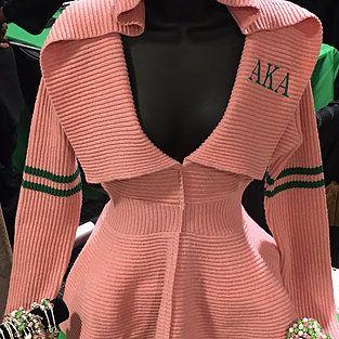 Peplum Varsity Sweater Aka Sororityalpha Ka Alpha