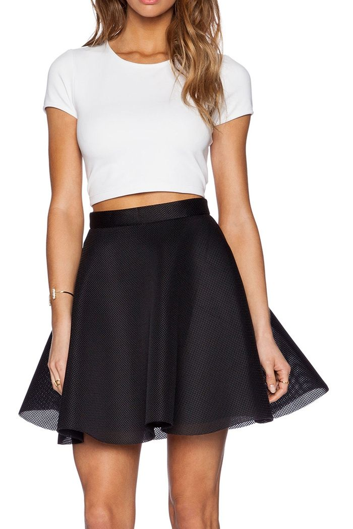 Full Lace Black High Waist Skirt | Skirt suit and Short sleeves