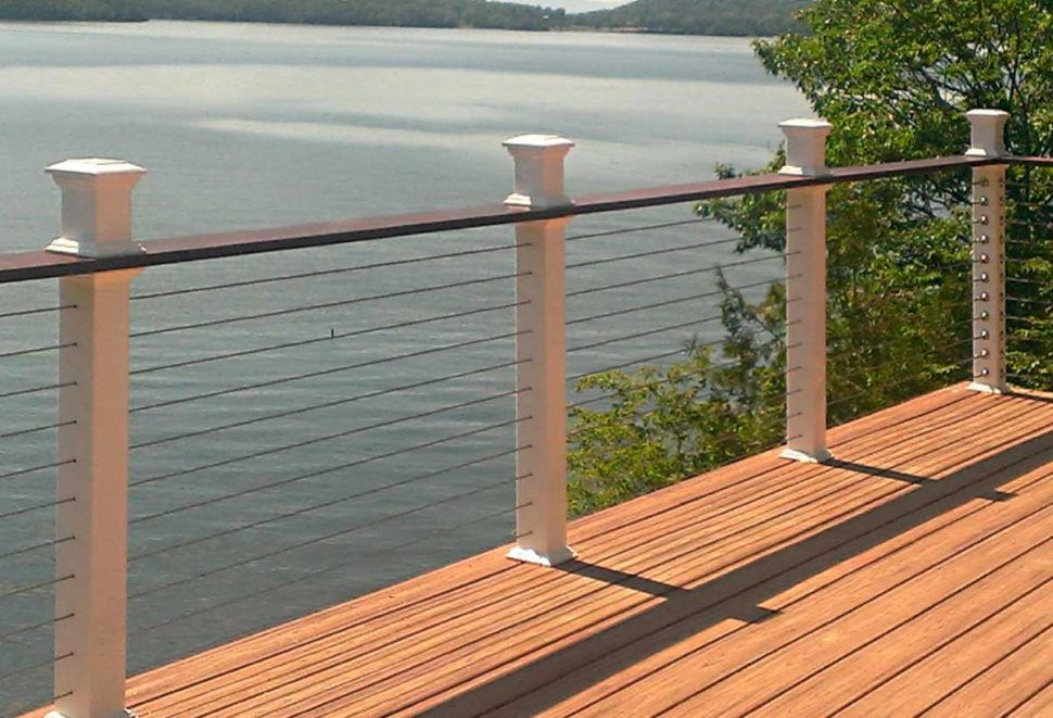 Outdoor Deck Ideas Deck Tiles Wood The Most Usual Without A Doubt Is Wood Although Composite Decking Is Gaining In Appeal Cable Railing Deck Deck Railings